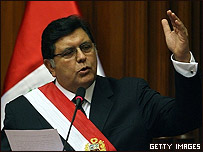 Alan García, presidente de Perú
