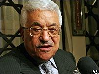 محمود عباس لدى وصوله دمشق