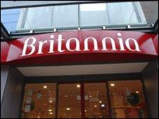 A Britannia branch entrance
