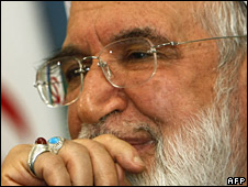 Iranian opposition leader Mehdi Karroubi announcing his candidacy for the presidency 12 Oct
