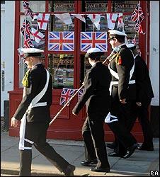 Flags fly in Wootton Bassett