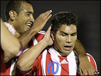 Caba�as anot� el gol paraguayo