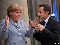 Ангела Меркель (слева) и Николя Саркози