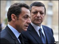 Николя Саркози и Жозе-Мануэль Барозу