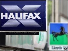 Halifax and Lloyds TSB logos