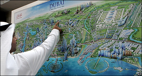 Thematic map of Dubai
