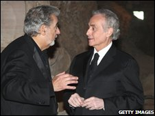 Jose Carreras and Placido Domingo