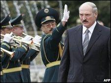 President Alexander Lukashenko of Belarus, in Kyrgyzstan
