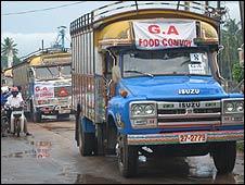 Sri Lankan government food convoy