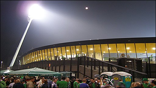 Match day footage montage in Maribor, Slovenia