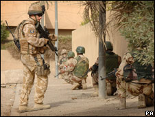 British, American and Iraqi troops