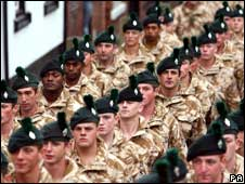Troops in Market Drayton