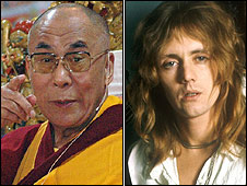 Dalai Lama, proposed for an Austrian stamp in 2005, and Roger Taylor who appeared on a British stamp in 1999