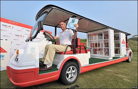 HSBC CEO driving the longest Golf Cart with Children's Library