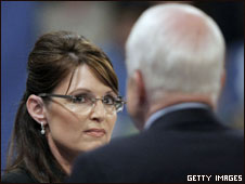 Sarah Palin and John McCAin campaign in Michigan, 17 Sept