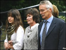 Hannah Foster's family outside court
