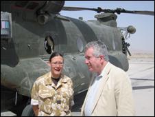 Flt Lt Stacey Marple and Martin Bell
