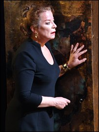 Clare Higgins as Jocasta (Photo: Catherine Ashmore)