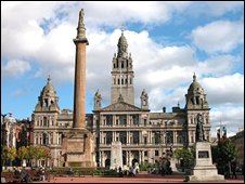 George Square and City Chambers (image from Undiscovered Scotland)