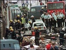Omagh bombing scene