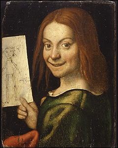 Portrait of a Young Boy holding a Child's Drawing, by Giovanni Francesco Caroto. © Museo di Castelvecchio, Verona