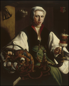 Portrait of a Lady with Spindle and Distaff, by Martin van Heemskerck © Museo Thyssen-Bornemisza, Madrid