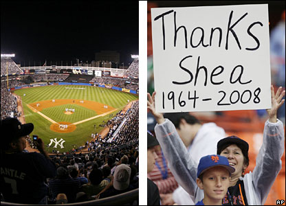 New York's Yankee Stadium and Shea Stadium are both being demolished and replaced with new stadia built nearby