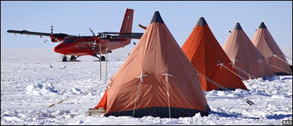 Лагерь исследователей в Антарктиде