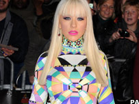 Christina Aguilera on the red carpet at London's Royal Albert Hall