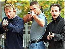 Guy Ritchie, Vinnie Jones and Matthew Vaughan