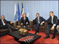 Участники переговоров в Женеве