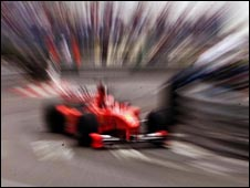 A racing car
