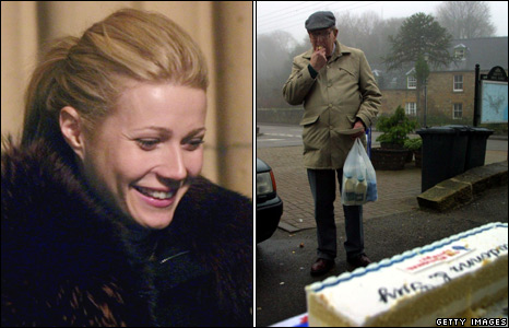 Gwyneth Paltrow and a resident of Dornoch