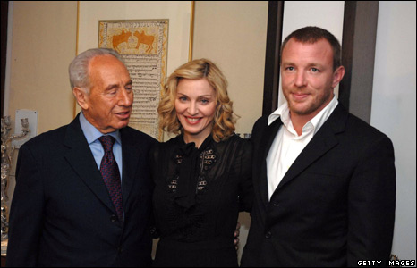 With Shimon Peres in 2007