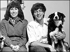 Valerie Singleton, John Noakes and Shep