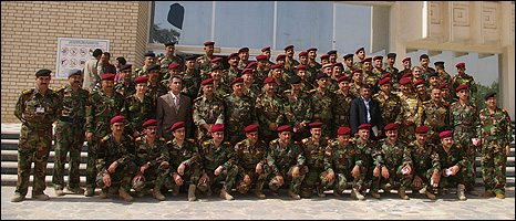 New officers, Joint Staff College, Baghdad (Photograph: Hugh Sykes)