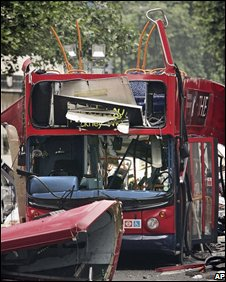 London bus bombed on 7 July 2005