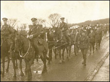 Herbert Taylor's funeral procession