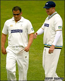 Darren Gough (left) and Anthony McGrath (right)