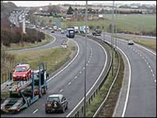 The A14 in Northamptonshire