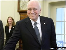 US Vice-President Dick Cheney in the Oval Office, Washington DC (14/10/2008)