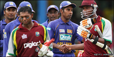 West Indies and Sri Lanka players
