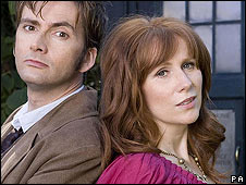 David Tennant and Catherine Tate in BBC Wales production Doctor Who