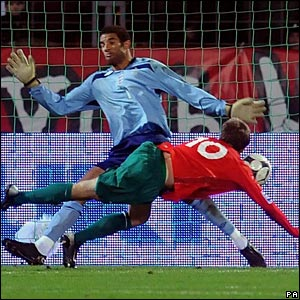 David James (England), Pavel Sitko (Belarus)