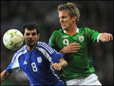 Kevin Doyle (right) and Marios Elia