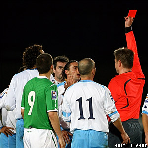 Mauro Marani is sent off