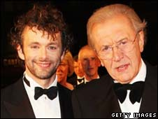 Actor Michael Sheen and broadcaster Sir David Frost