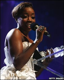 Estelle at the Mobo Awards