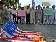 Protest against US missile strikes in Islamabad