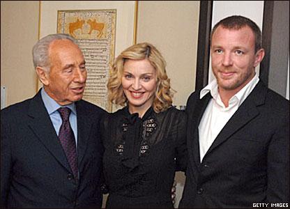 Шимон Перес, Мадонна и Гай Ричи
